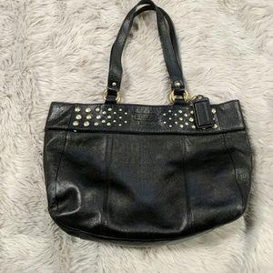 Black Coach purse with gold details